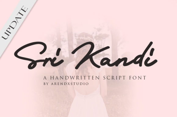 Print on Demand: Sri Kandi Script & Handwritten Font By Arendxstudio - Image 1