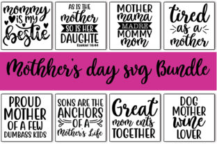 Print on Demand: 10 Mother's Day Quotes Bundle Graphic Print Templates By Designartstore