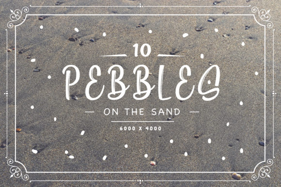 10 Pebbles on the Sand Backgrounds Graphic Backgrounds By Textures - Image 1