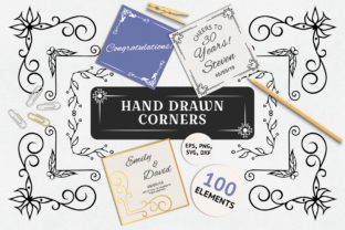 100 Hand Drawn Ornate Corners & Borders Graphic By Kirill's Workshop