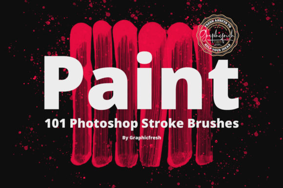 Print on Demand: 101 Photoshop Paint Stroke Brushes Graphic Brushes By Sameeh Media