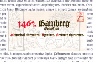 1462 Bamberg Font By GLC Foundry