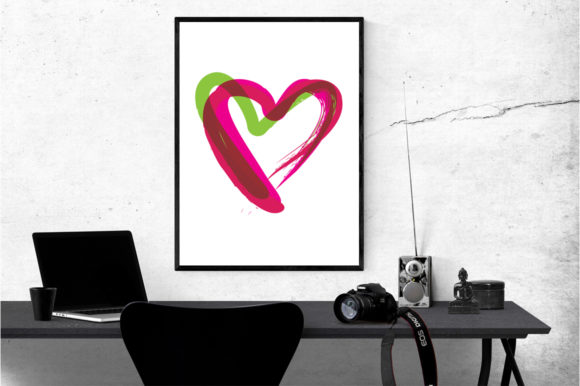 18 Graphic Prints - Hearts Graphic By GraphicsBam Fonts