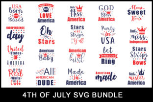 Download Free 20 4th Of July Bundle Graphic By Creativesvg Creative Fabrica SVG Cut Files