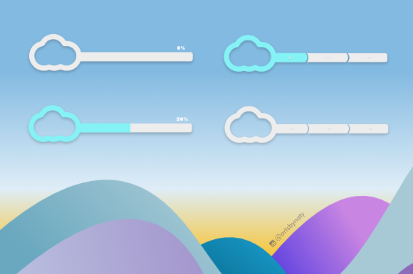 Print on Demand: 20 Cloud Elements Kit Graphic Icons By artsbynaty - Image 5