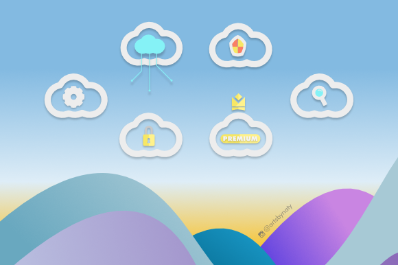 Print on Demand: 20 Cloud Elements Kit Graphic Icons By artsbynaty - Image 6