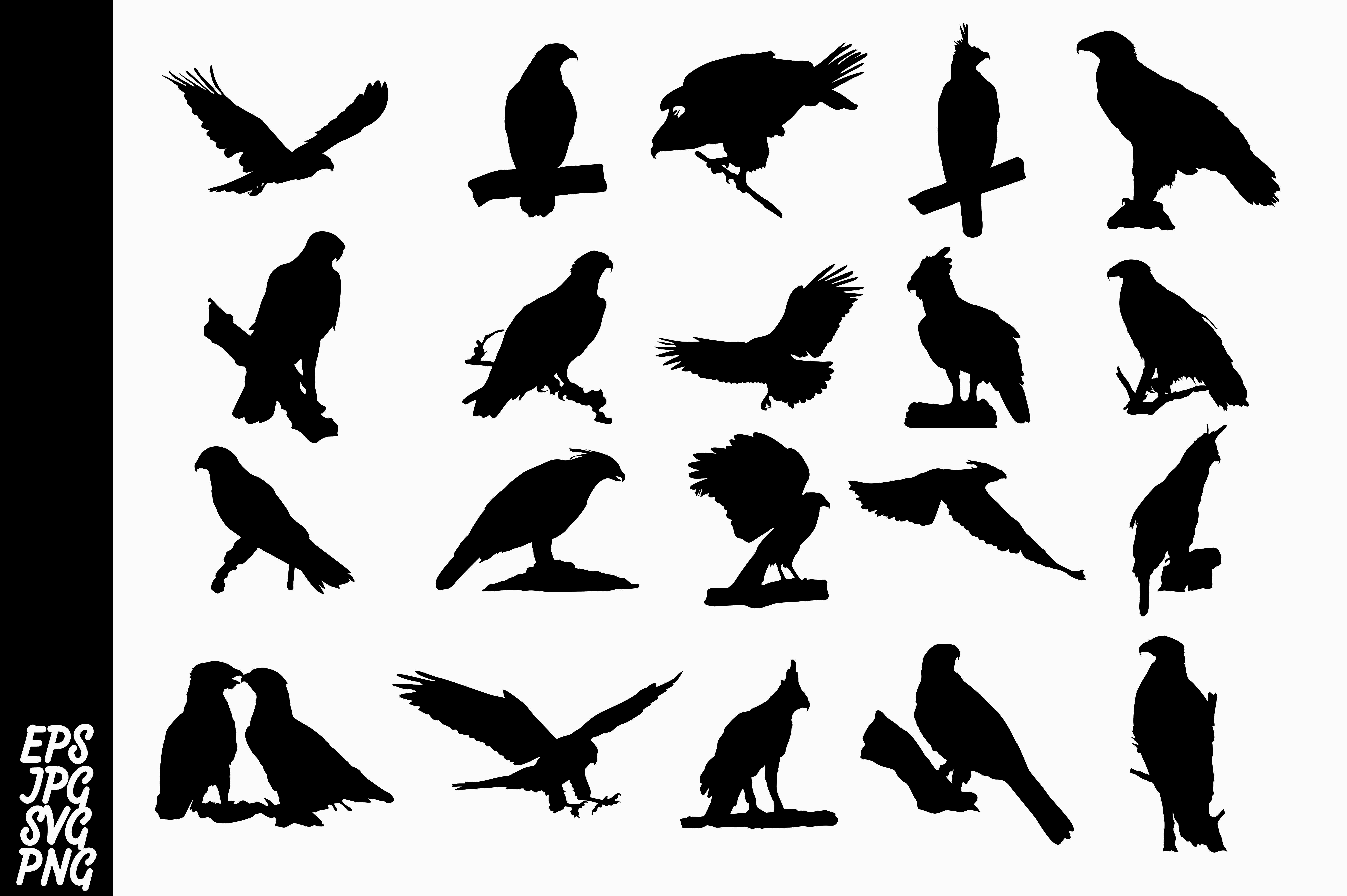 Download Free 20 Silhouette Eagle Vector Bundle Graphic By Arief Sapta Adjie for Cricut Explore, Silhouette and other cutting machines.