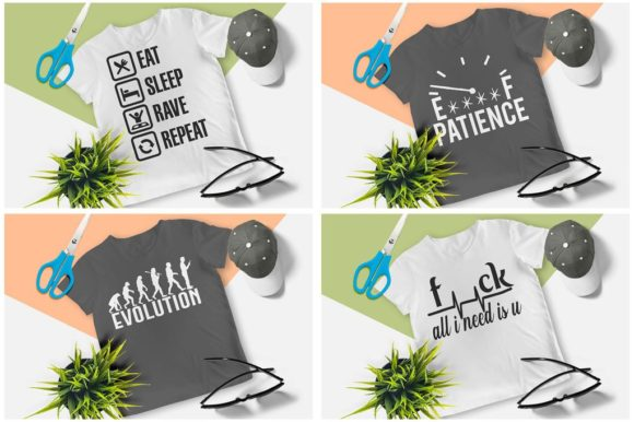 200 Print Ready T-Shirt Design Graphic Print Templates By Graphicsqueen - Image 11