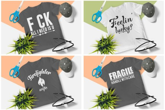 200 Print Ready T-Shirt Design Graphic Print Templates By Graphicsqueen - Image 12