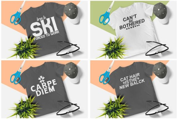 200 Print Ready T-Shirt Design Graphic Print Templates By Graphicsqueen - Image 7