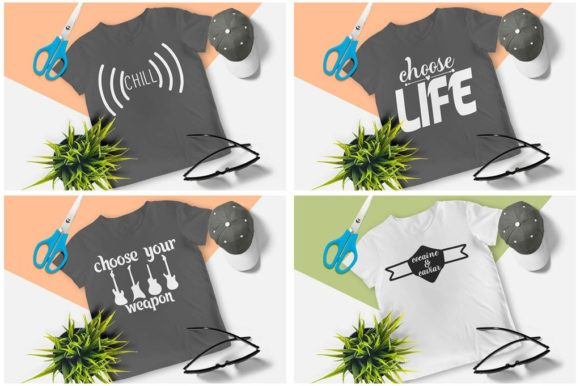 200 Print Ready T-Shirt Design Graphic Print Templates By Graphicsqueen - Image 8