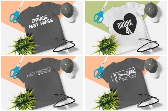 200 Print Ready T-Shirt Design Graphic Print Templates By Graphicsqueen - Image 10