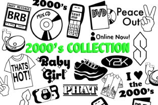 Download Free 2000 S Collection Graphic By Mine Eyes Design Creative Fabrica for Cricut Explore, Silhouette and other cutting machines.