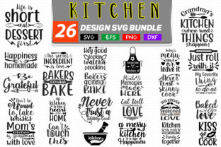 26 Kitchen SVG Bundle Graphic By Handmade studio