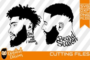 Download Free 2x Afro Beard Man Face Svg Graphic By Digitaldarius Creative for Cricut Explore, Silhouette and other cutting machines.