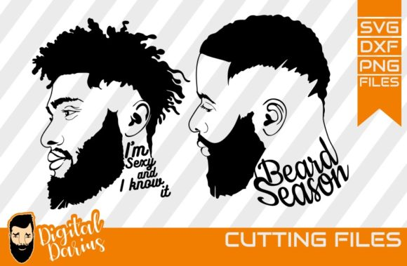 Download Free 3x Beard Man With Cap Svg Man Face Graphic By Digitaldarius for Cricut Explore, Silhouette and other cutting machines.