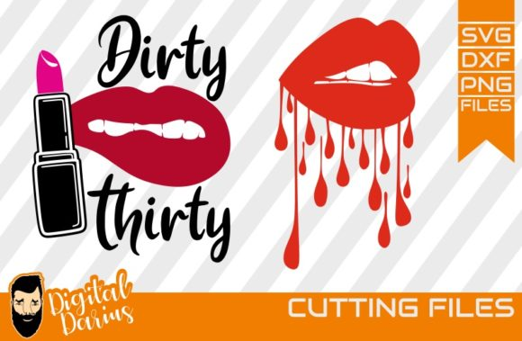 Download Free 2x Lips Svg Lipstick Svg Dripping Lips Grafico Por for Cricut Explore, Silhouette and other cutting machines.