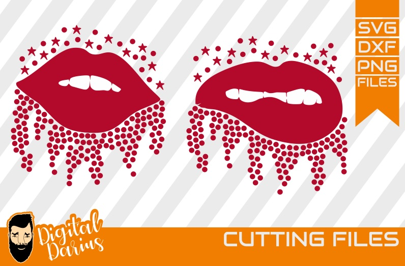 2x Lips Svg Mascara Svg Vector Graphic By Digitaldarius