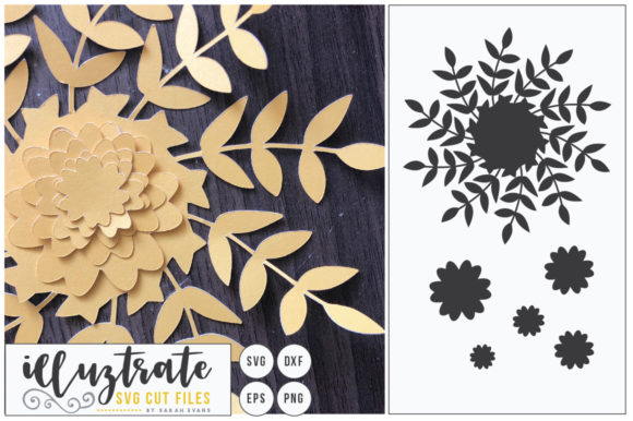 Print on Demand: 3D Flower SVG, DIY Layered Flower 2 Graphic Crafts By illuztrate