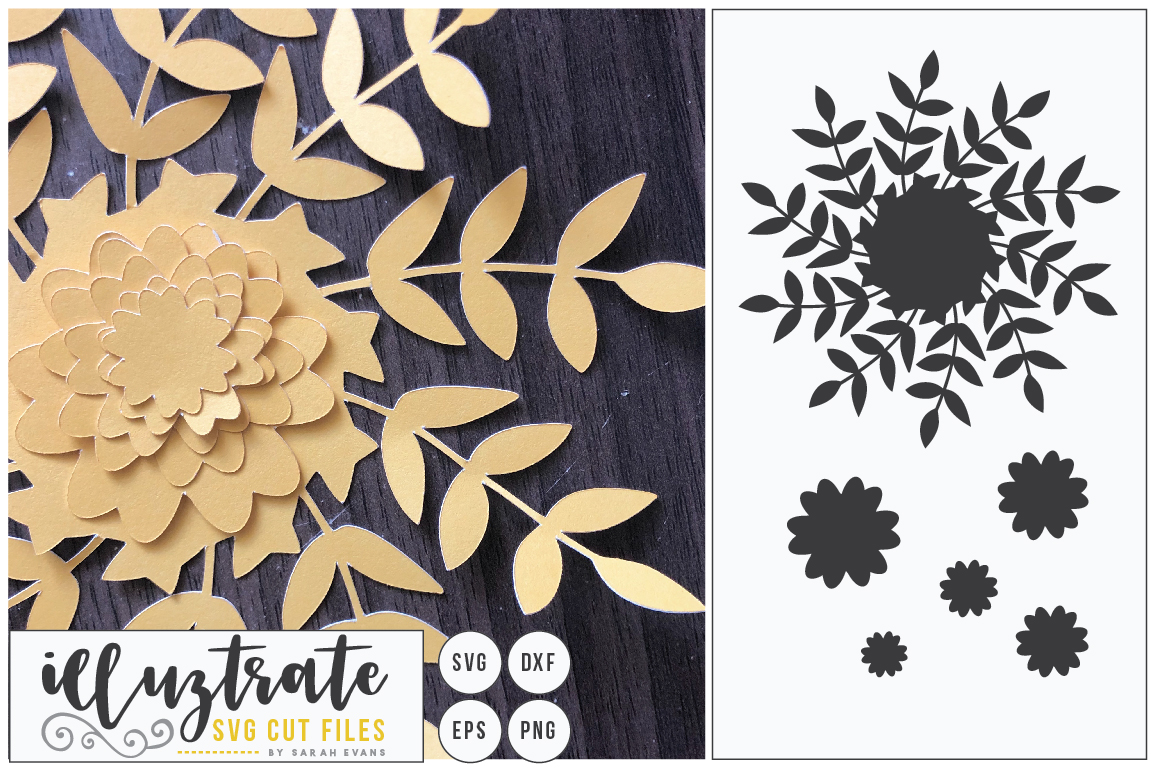 Download Free 3d Flower Diy Layered Flower 2 Graphic By Illuztrate Creative for Cricut Explore, Silhouette and other cutting machines.