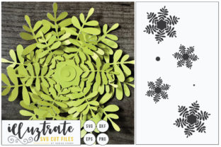 Download Free 3d Flower Diy Layered Flower 3 Graphic By Illuztrate Creative for Cricut Explore, Silhouette and other cutting machines.