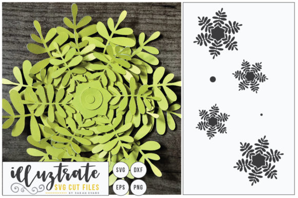 Print on Demand: 3D Flower SVG, DIY Layered Flower 3 Graphic Crafts By illuztrate - Image 1