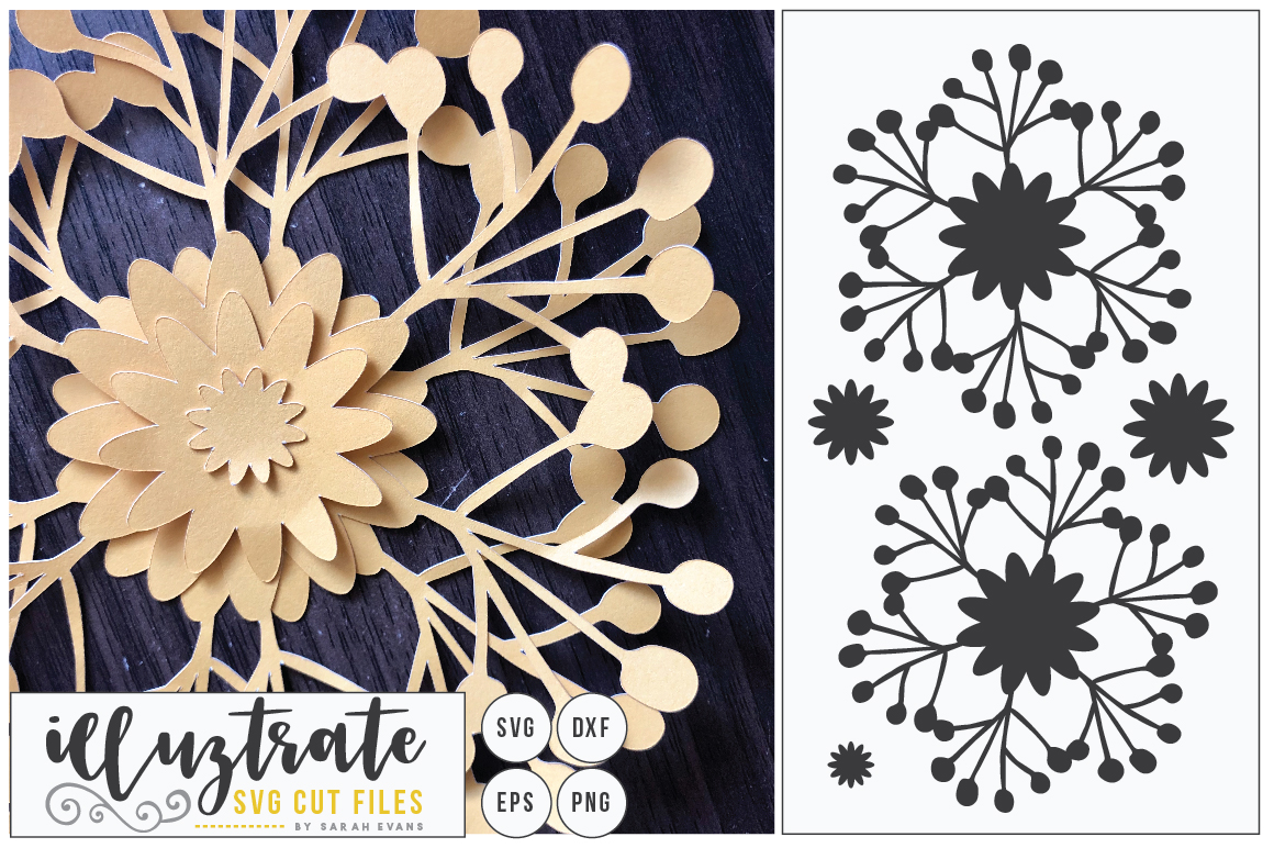 Download Free 3d Flower Diy Layered Flower 5 Graphic By Illuztrate Creative for Cricut Explore, Silhouette and other cutting machines.