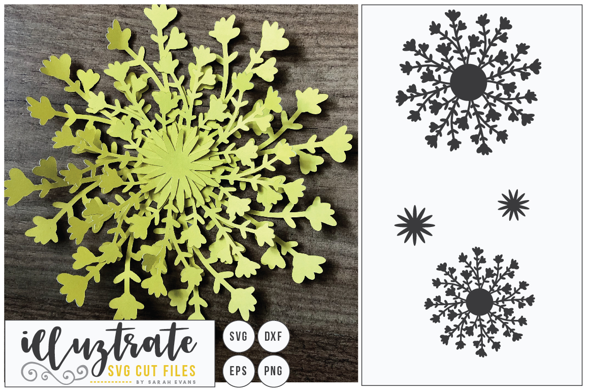 Download Free 3d Flower Diy Layered Flower 6 Graphic By Illuztrate Creative for Cricut Explore, Silhouette and other cutting machines.