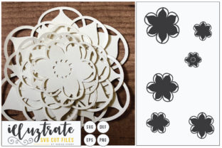 Download Free 3d Flower Diy Layered Flower 7 Graphic By Illuztrate Creative for Cricut Explore, Silhouette and other cutting machines.