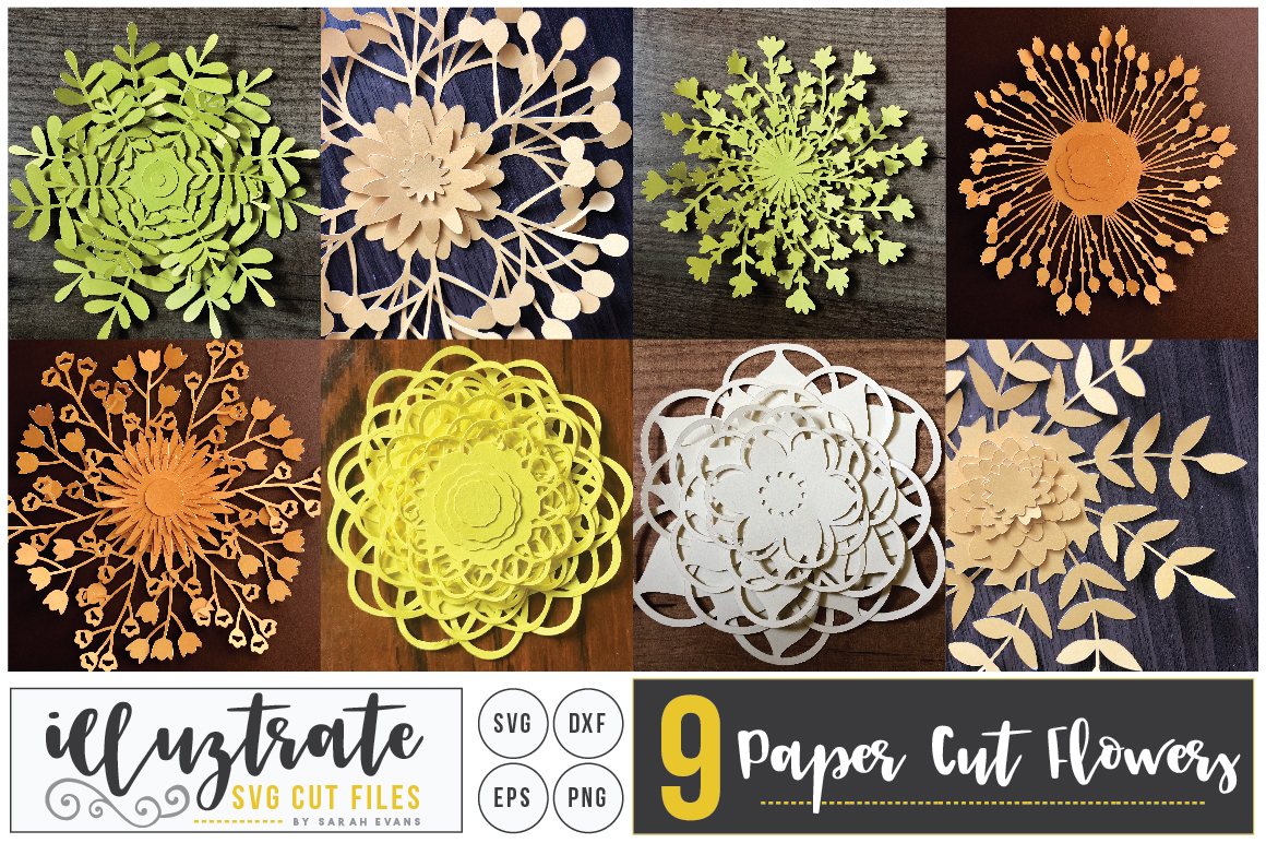 Download Free 3d Layered Flowers Svg Bundle Graphic By Illuztrate Creative for Cricut Explore, Silhouette and other cutting machines.