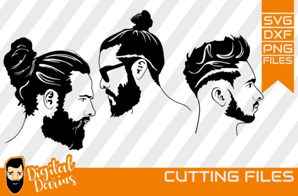 Download Free 3x Beard Man Svg Man Face Hairstyle Graphic By Digitaldarius for Cricut Explore, Silhouette and other cutting machines.