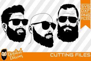3x Beard Man With Glass Svg Hairstyle Graphic By Digitaldarius