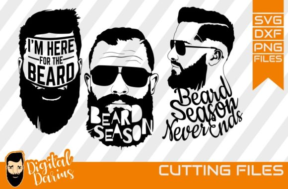 Download Free 3x Beard Season Svg Man Face Graphic By Digitaldarius for Cricut Explore, Silhouette and other cutting machines.
