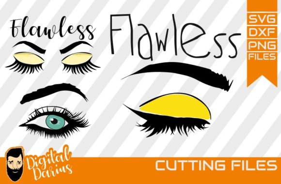 Download Free 3x Flawless Svg Mascara Svg Graphic By Digitaldarius Creative for Cricut Explore, Silhouette and other cutting machines.