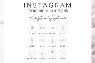 40 Hand Drawn Instagram Icons Graphic Icons By Masters of Mockups