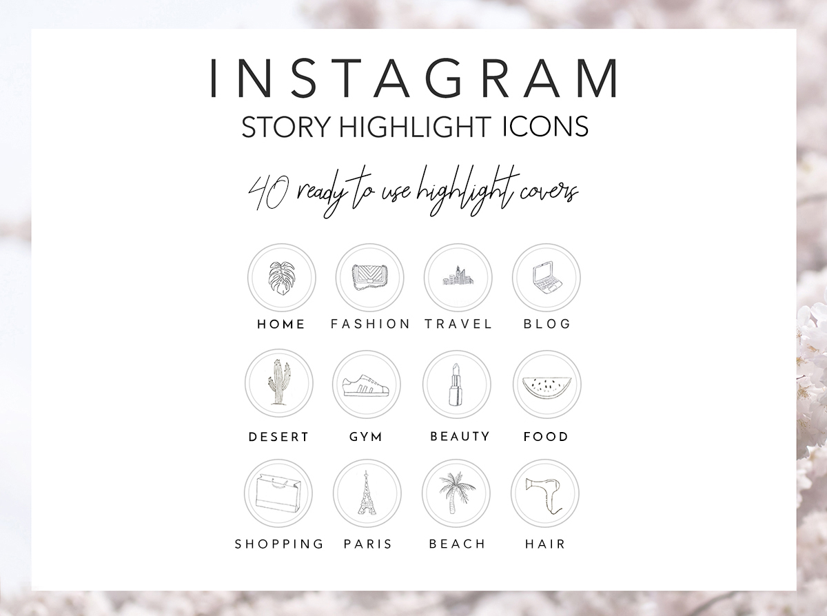 Download Free 40 Hand Drawn Instagram Icons Grafik Von Masters Of Mockups for Cricut Explore, Silhouette and other cutting machines.