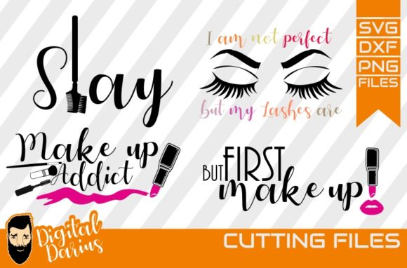 Download Free 4x Make Up Addict Svg Mascara Svg Graphic By Digitaldarius for Cricut Explore, Silhouette and other cutting machines.
