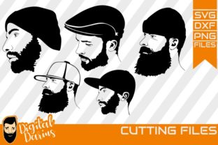 Download Free 5x Beard Man With Cap Svg Man Face Grafico Por Digitaldarius for Cricut Explore, Silhouette and other cutting machines.