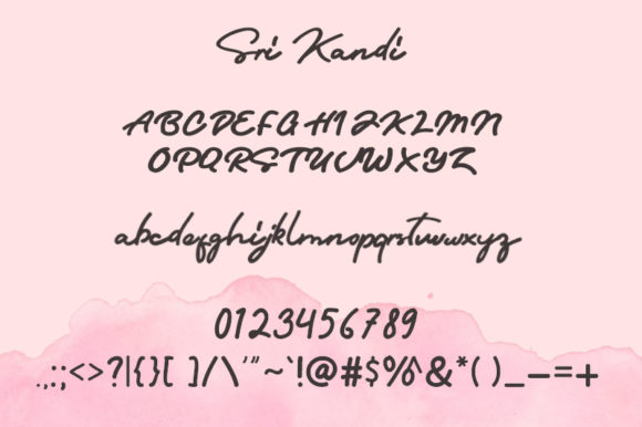 Print on Demand: Sri Kandi Script & Handwritten Font By Arendxstudio - Image 8