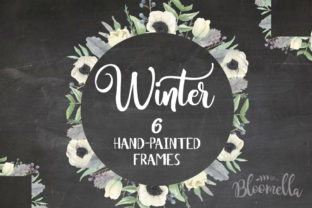 6 Watercolour Winter Festive Leaf Graphic By Bloomella