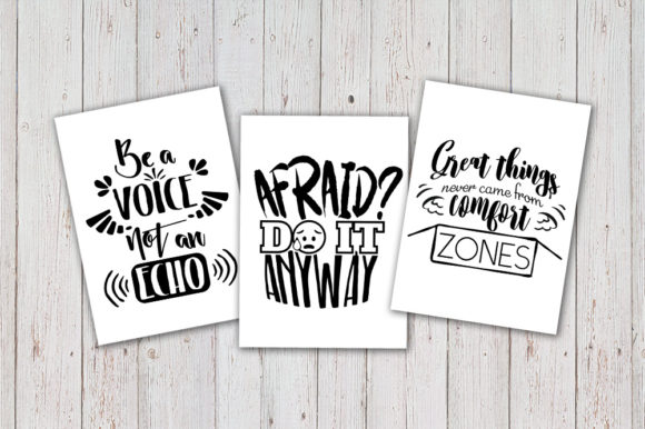 Download Free 8 Hand Lettered Motivation Quotes Set Graphic By Vector City for Cricut Explore, Silhouette and other cutting machines.
