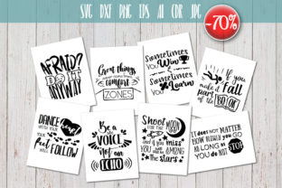 8 Hand Lettered Motivation Quotes Set Graphic By Vector City Skyline