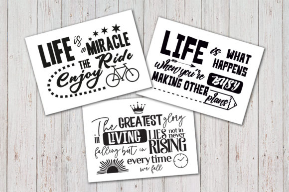 Download Free 8 Inspirational Quotes Set Graphic By Vector City Skyline for Cricut Explore, Silhouette and other cutting machines.