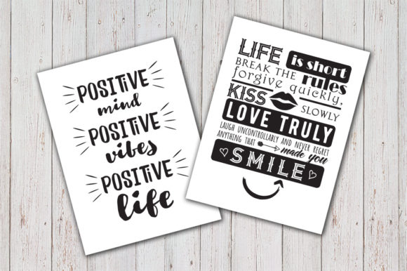 8 Inspirational Quotes Set SVG Graphic Crafts By Vector City Skyline - Image 3