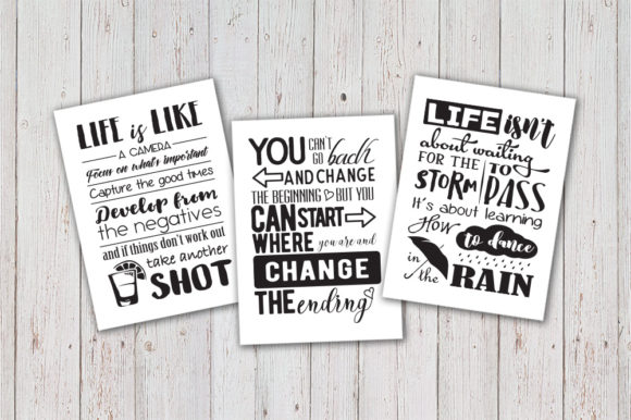 8 Inspirational Quotes Set SVG Graphic Crafts By Vector City Skyline - Image 4
