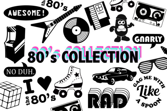 Print on Demand: 80s SVG Collection Graphic Icons By Mine Eyes Design