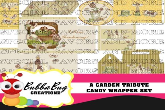 A Garden Tribute Candy Wrapper Set Graphic Crafts By BUBBABUG