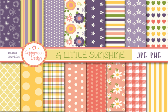 Print on Demand: A Little Sunshine Paper Set Graphic Patterns By poppymoondesign
