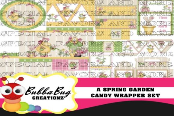 A Spring Garden Candy Wrapper Set Graphic Crafts By BUBBABUG