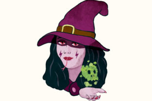 Download Free A Poisonous Bad Purple Witch Clipart Graphic By Milaski for Cricut Explore, Silhouette and other cutting machines.